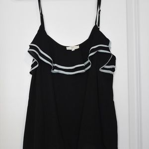 Joie Black Strappy Tank with Teal, L